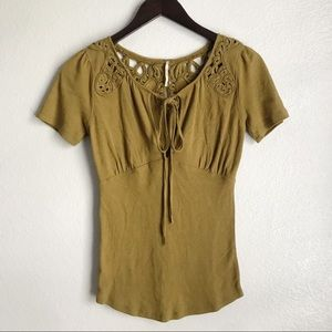 Free People Blast From The Past Front Keyhole Tee